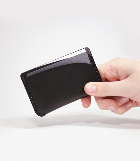 Leather Card Case in Black designed and made by Lost Kind®