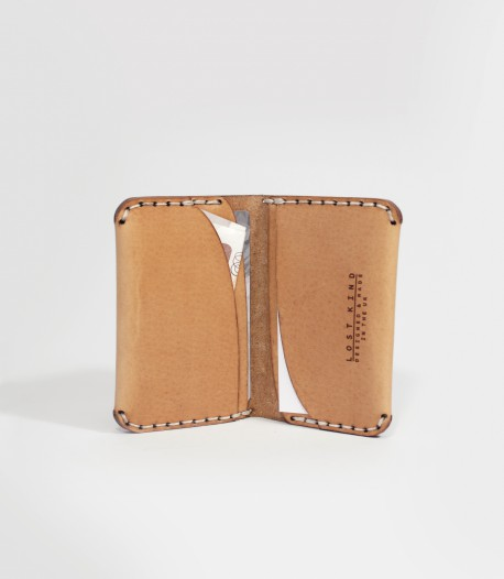 Leather Card Wallet In Tan Made by Lost Kind®