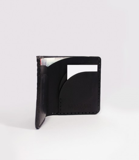 Black Leather Bifold Wallet Crafted by Lost Kind®