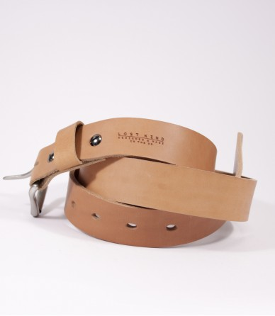 Leather 10oz Belt in Tan (Silver) made by Lost Kind®